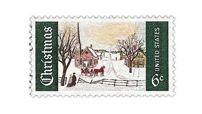 united-states-1969-winter-sunday-norway-maine-christmas-stamp