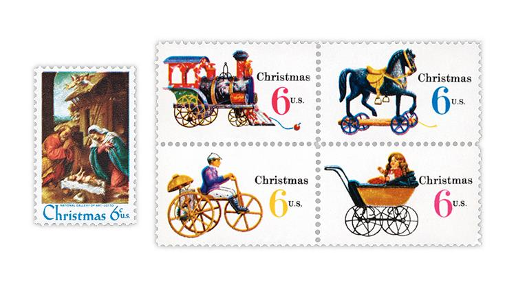united-states-1970-christmas-stamps