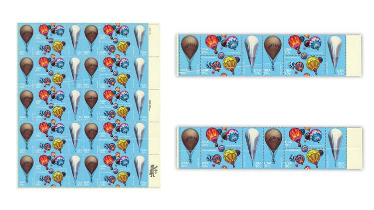 united-states-1983-hot-air-ballooning-pane-paper-creases