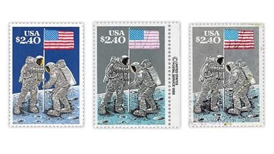 united-states-1989-moon-landing-stamps-dark-blue-gray-sky