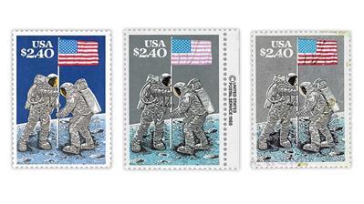united-states-1989-moon-landing-stamps-dark-blue-gray-sky