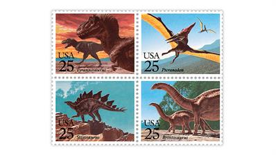 united-states-1989-prehistoric-animals-stamps