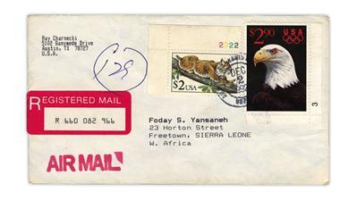 united-states-1992-bobcat-registered-cover-texas-sierra-leone