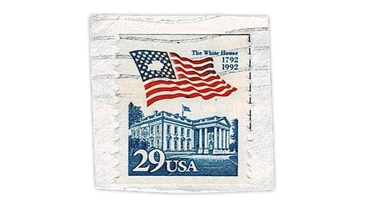 united-states-1992-flag-over-white-house-stamp-printing-gap