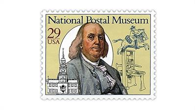 united-states-1993-benjamin-franklin-national-postal-museum-stamp