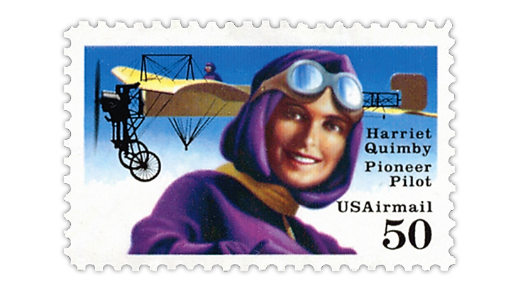 united-states-1993-harriet-quimby-airmail-stamp
