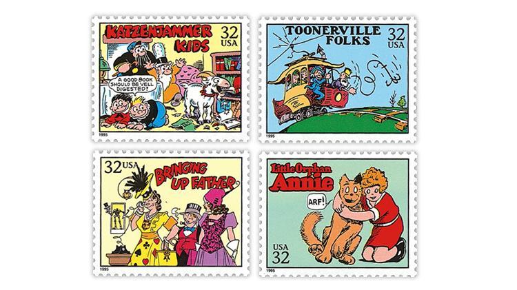united-states-1995-comic-strip-classics-stamps