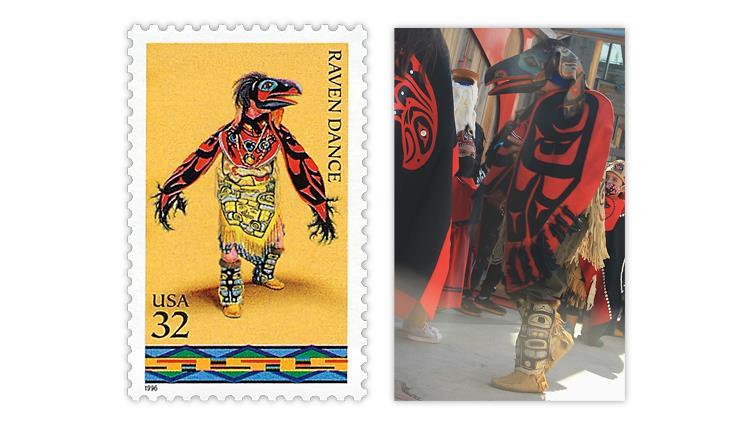 united-states-1996-raven-dance-stamp-nathan-jackson