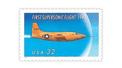 united-states-1997-50th-anniversary-first-supersonic-flight-stamp
