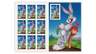 united-states-1997-bugs-bunny-stamp-pane