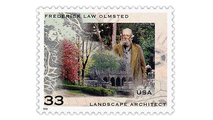 united-states-1999-frederick-law-olmsted-stamp