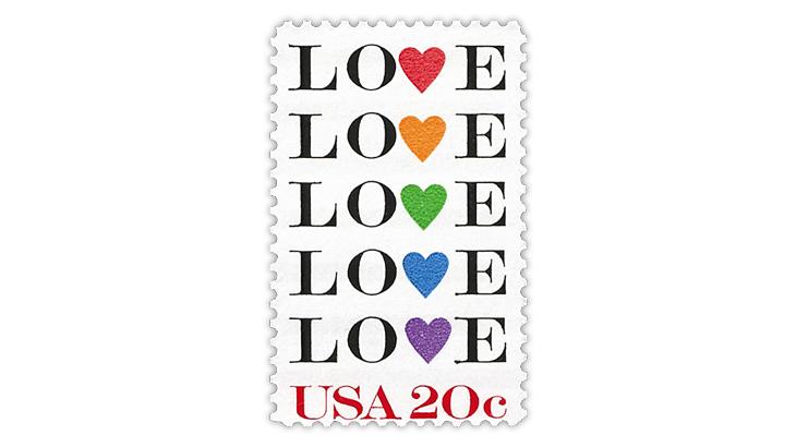 United States 20¢ Love stamp
