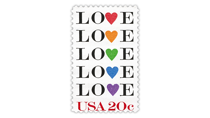 United States 20¢ Love stamp