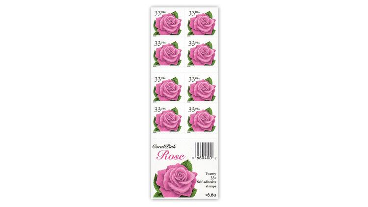 united-states-2000-coral-pink-rose-booklet-pane