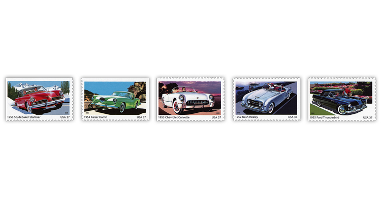 united-states-2005-sporty-cars-1950s-stamps