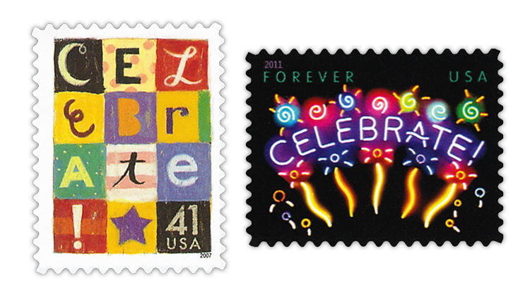 united-states-2007-2011-celebrate-stamps