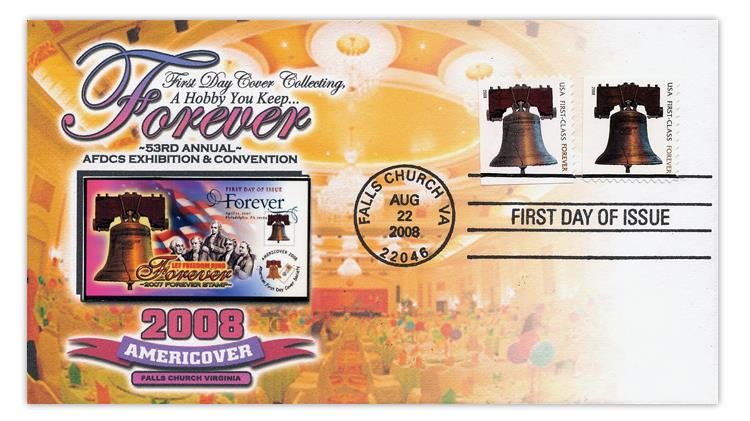 united-states-2008-liberty-bell-forever-stamp-first-day-cover