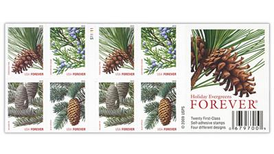 united-states-2010-evergreens-christmas-booklet-stamps