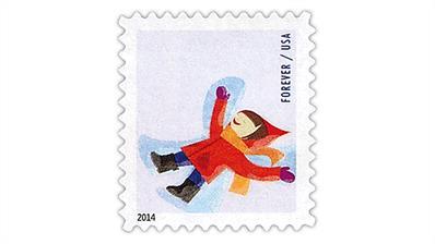 united-states-2014-winter-fun-snow-angel-stamp