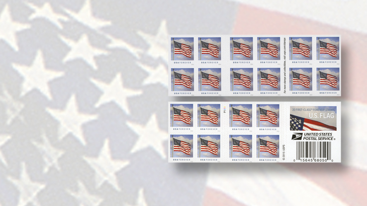 united-states-2016-flag-stamps-booklet-double-sided-pane-of-20-ashton-potter
