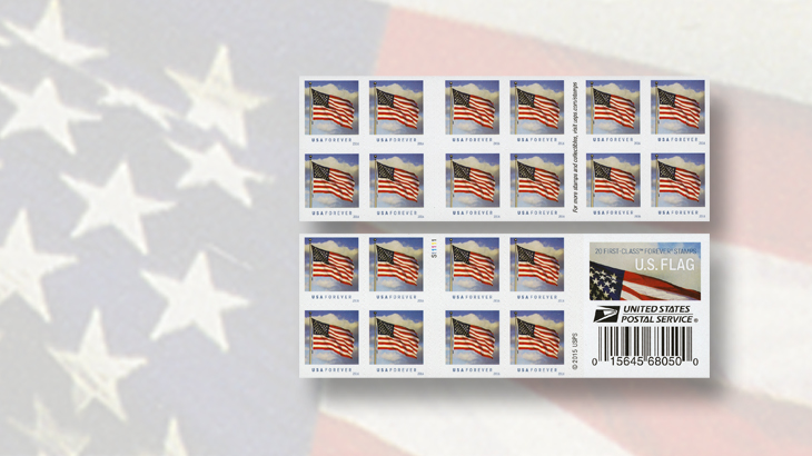 united-states-2016-flag-stamps-booklet-double-sided-pane-of-20-sennett-security-products