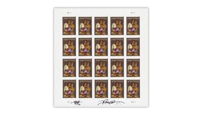 united-states-2018-kwanzaa-stamp-pane-floyd-cooper-autograph