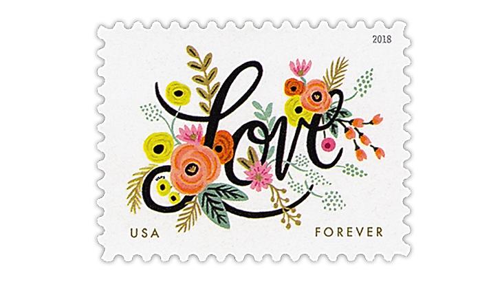 United States 2018 Love stamp