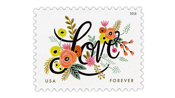 United States 2018 Love stamp