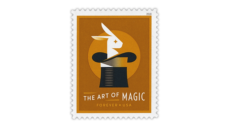 united-states-2018-rabbit-in-hat-stamp