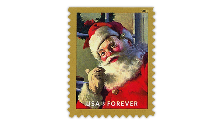 2020 Christmas Forever Stamps Large print runs of previous U.S. Christmas stamps help explain