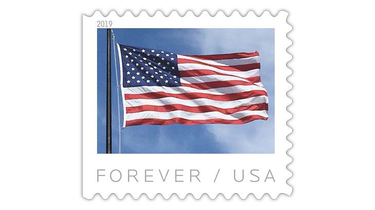 United States 2019 American Flag stamp