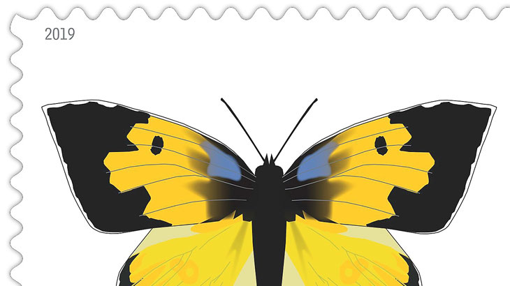 California Dogface Butterfly Stamp Arrives After Long Flight