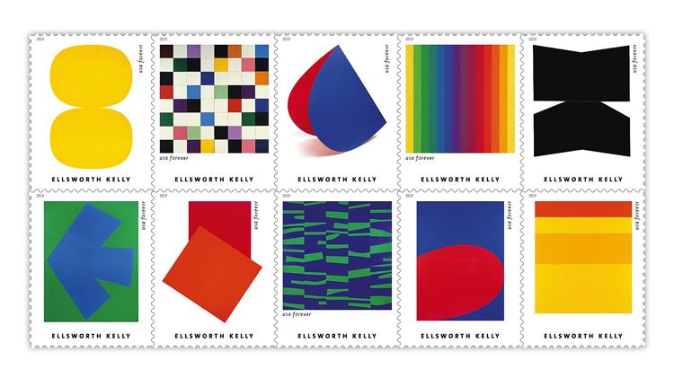 United States 2019 Ellsworth Kelly stamps