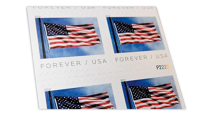 united-states-2019-flag-stamp-pane-plate-number-P2222