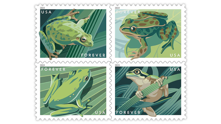 united-states-2019-four-frogs-forever-stamps