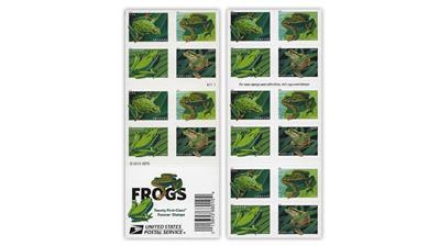 united-states-2019-frogs-stamps-double-sided-pane
