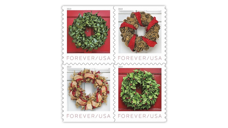 united-states-2019-holiday-wreaths-stamps