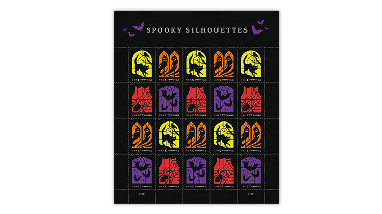united-states-2019-spooky-silhouettes-stamps-pane