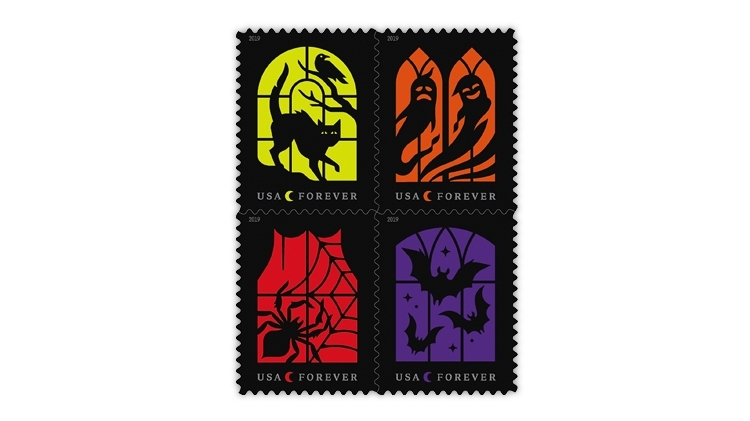 united-states-2019-spooky-silhouettes-stamps