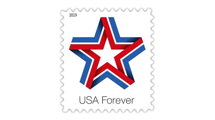 United States 2019 Star Ribbon forever stamp