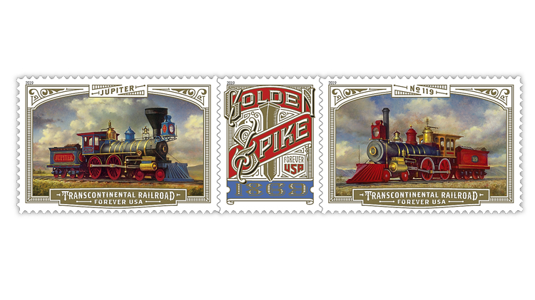 United States 2019 Transcontinental Railroad stamps