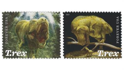 united-states-2019-tyrannosaurus-rex-stamps-lenticular-technology