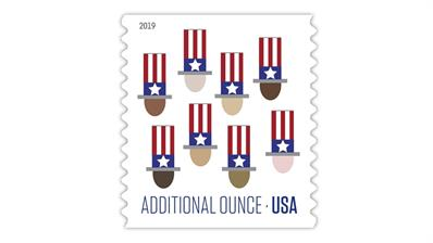 United States 2019 Uncle Sams Hat additional ounce stamp