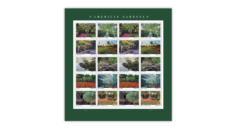 united-states-2020-american-gardens-stamps-pane