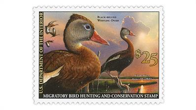 united-states-2020-black-bellied-whistling ducks-stamp