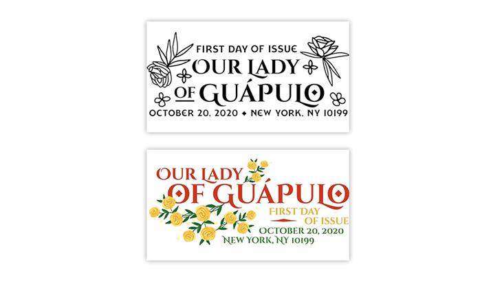 united-states-2020-christmas-our-lady-guapulo-stamp-first-day-postmarks