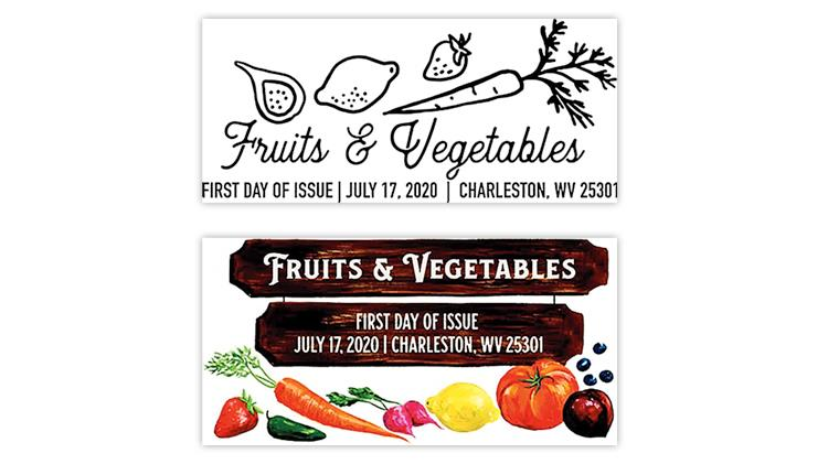 united-states-2020-fruits-vegetables-stamps-pictorial-cancels