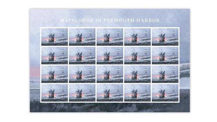 united-states-2020-mayflower-plymouth-harbor-stamp-pane