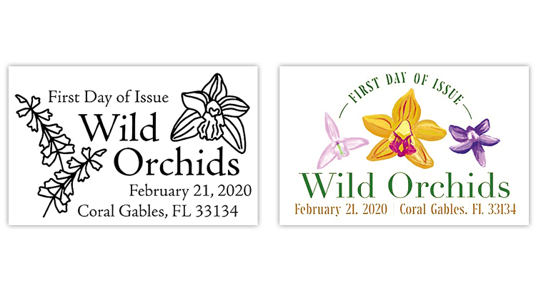 united-states-2020-wild-orchids-stamps-first-day-postmarks