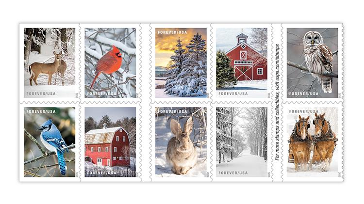 Usps 2020 Christmas Stamps Postal Service reveals 16 new stamps for winter mail and holidays